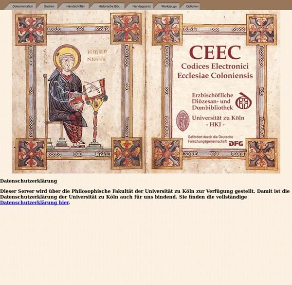 CEEC - Codices Electronici Ecclesiae Coloniensis