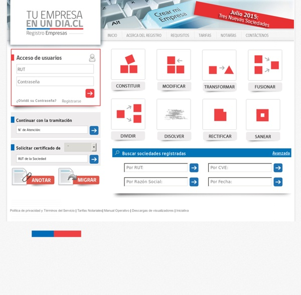 Registro Electrónico Empresas y Sociedades