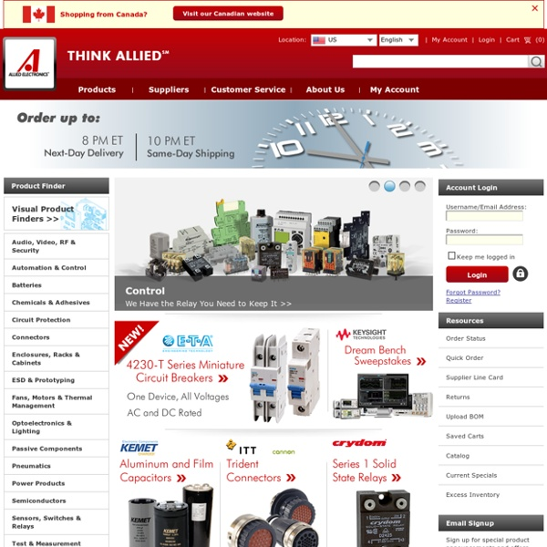 Allied Electronics – Electronic Parts and Components Distributor