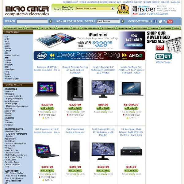 Micro Center - Computers, Electronics, Computer Parts, Networking, Gaming, Software, and more!