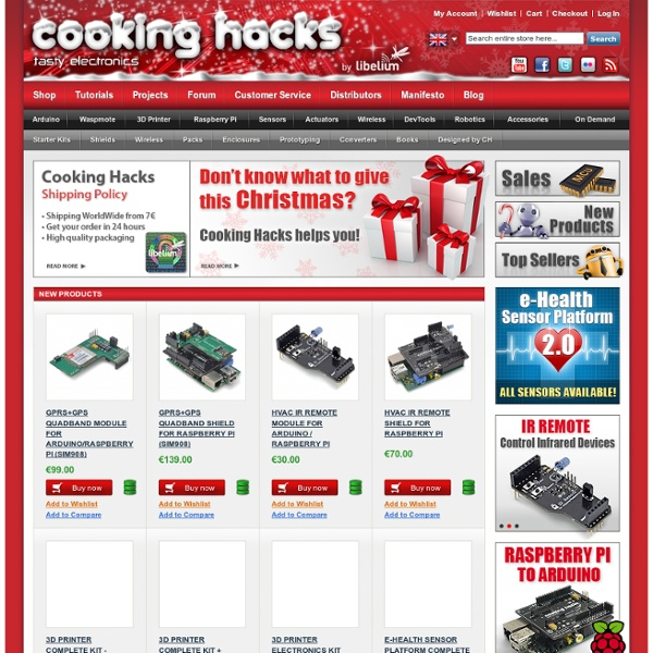 Cooking Hacks - Electronics for Arduino, Raspberry Pi and 3D Printers