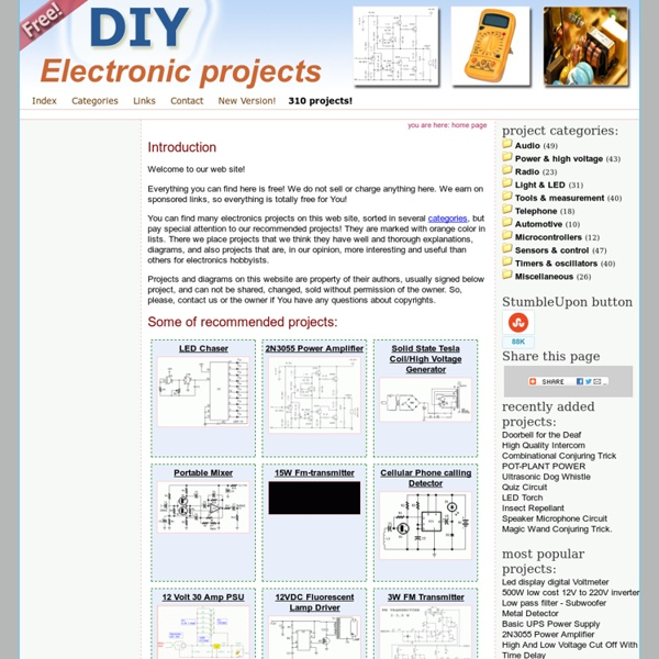 Free electronics projects and circuit diagrams (schematics) for ...