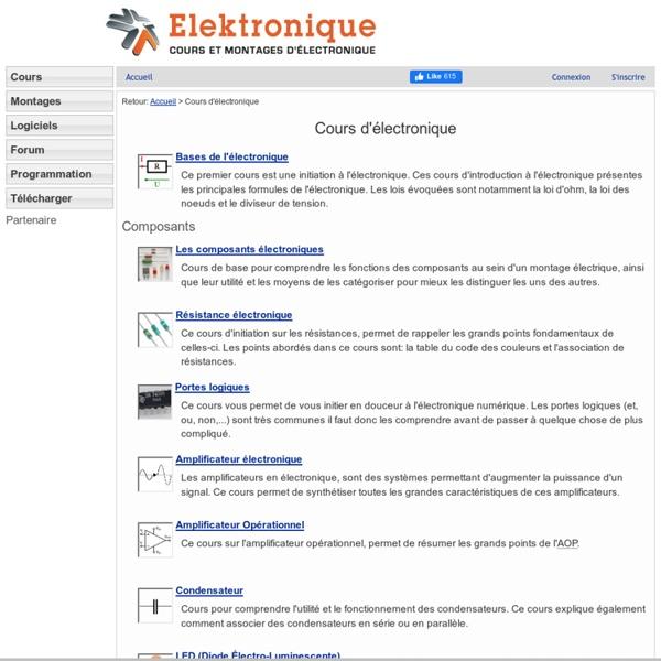 Cours Électronique - Apprentissage Facile