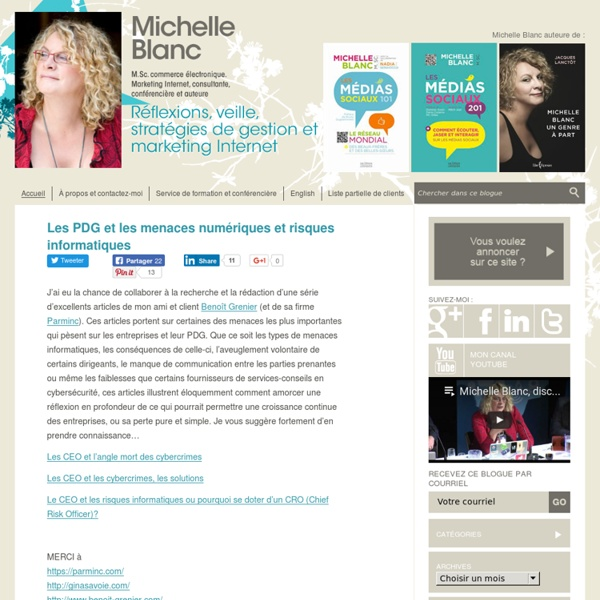 Michelle Blanc, M.Sc. commerce électronique. Marketing Internet, consultante, conférencière et auteure