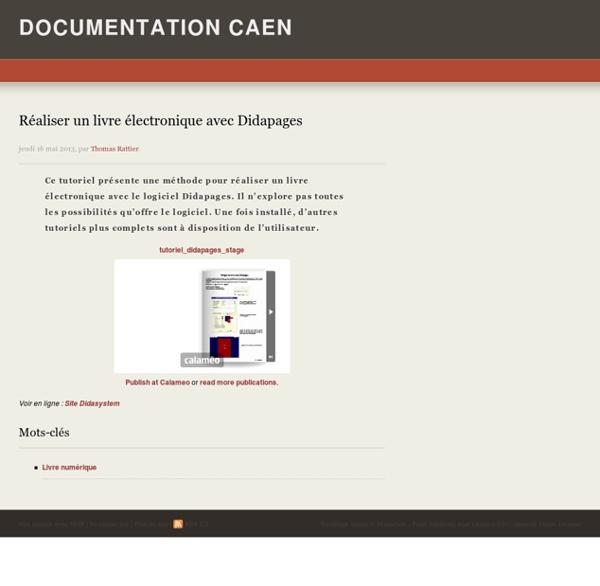 Réaliser un livre électronique avec Didapages -