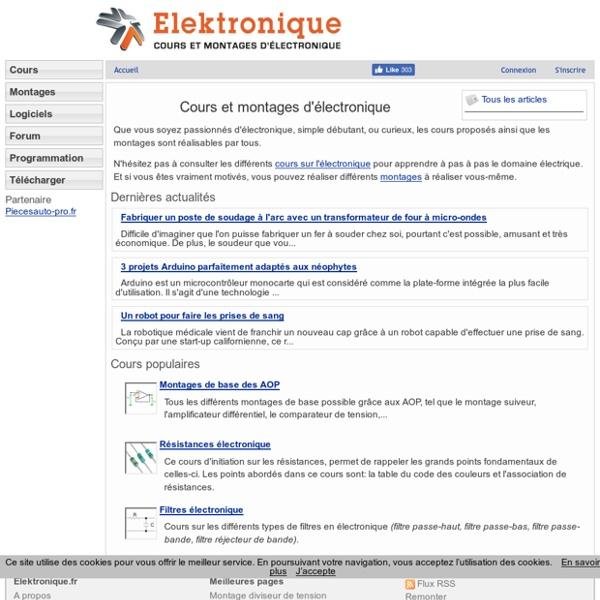 Cours et Montages Électronique - Site Électrique