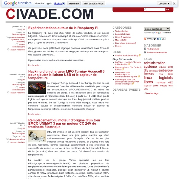 Civade.com .... DIY, cnc