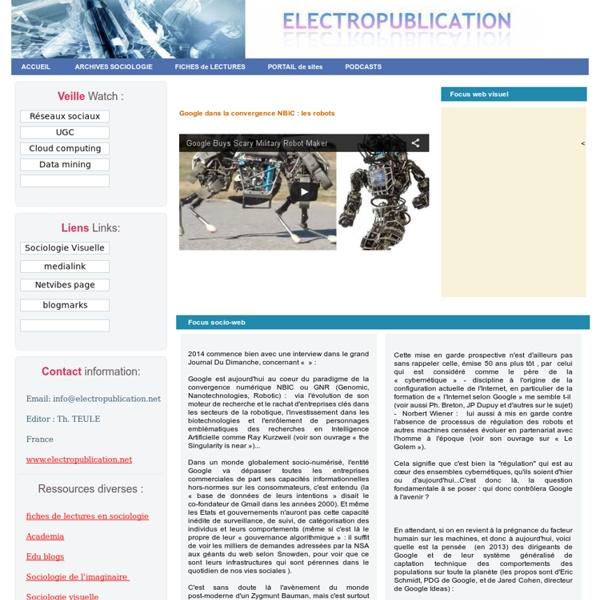 Sociologie Internet blog reseaux revue web - ethnologie anthropologie