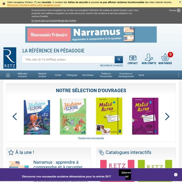 Retz : éditeur de manuels et matériels scolaires, école primaire, élémentaire et maternelle