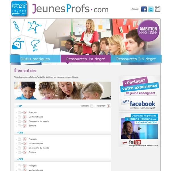 Élémentaire - Ressources 1er degré - Jeunes Profs