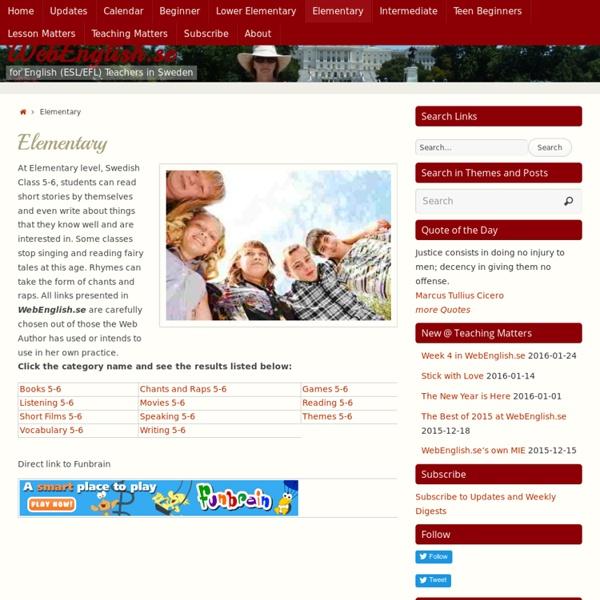 Elementary ⋆ WebEnglish.se