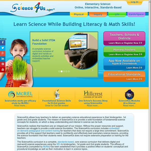 Early Elementary Science Curriculum - K-2 Interactive Science Program