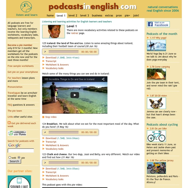 Listen, learn and teach English for elementary and pre-intermediate English learners