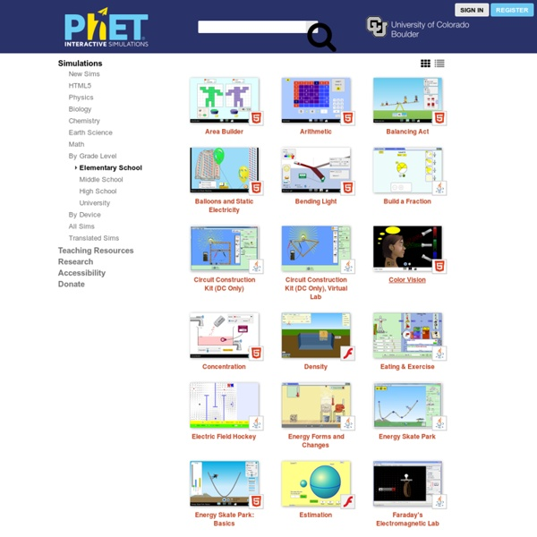 Elementary School - PhET Simulations