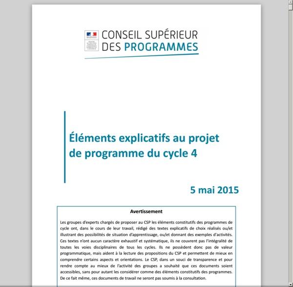 ELEMENTS_EXPLICATIFS_projet_de_programme_cycle_4_5_mai2015_419552.pdf