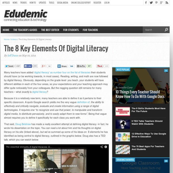 The 8 Key Elements Of Digital Literacy