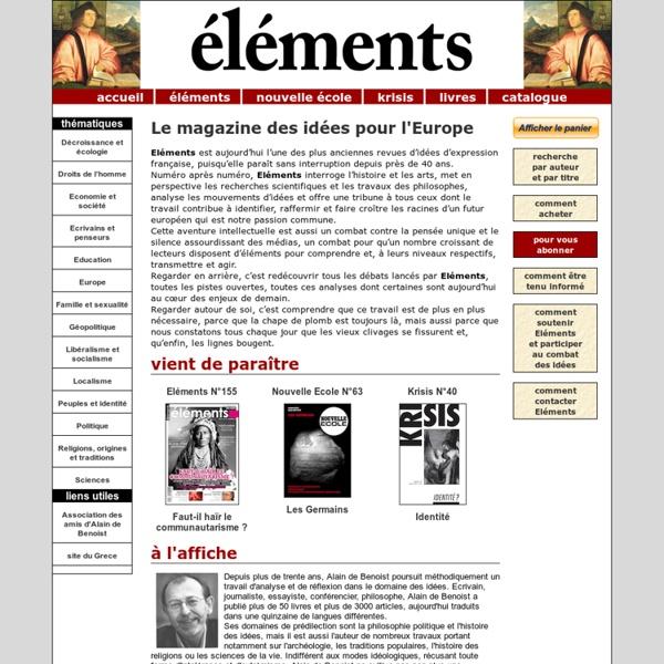 Eléments : le magazine des idées pour l'Europe