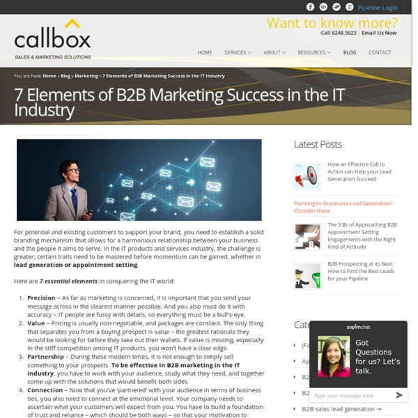 7 Elements of B2B Marketing Success in the IT Industry