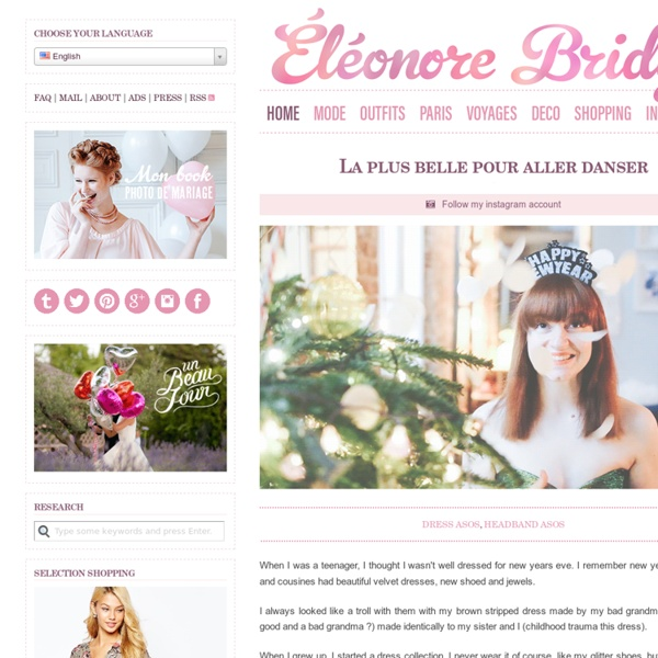 Eleonore Bridge (Le blog de la méchante), blog mode, site fémini