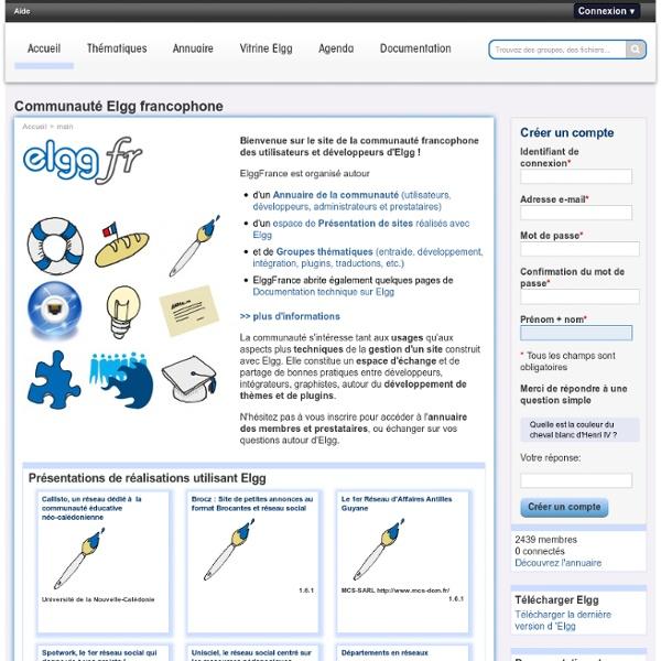 Elgg communauté francophone