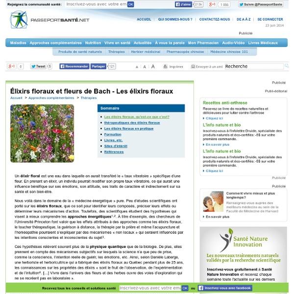 Élixirs floraux et fleurs de Bach - Définition