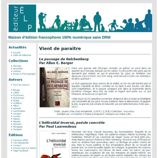 ELP éditeur - livres numériques