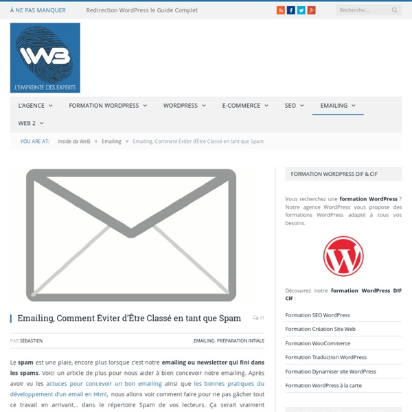 Emailing, Comment Éviter d'Être Classé en tant que Spam - Blog Emails