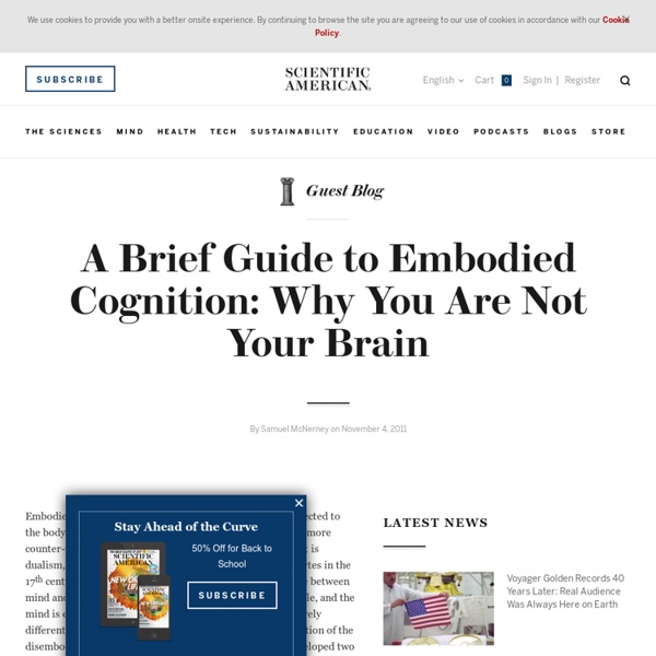 guest blog brief guide embodied cognition your brain