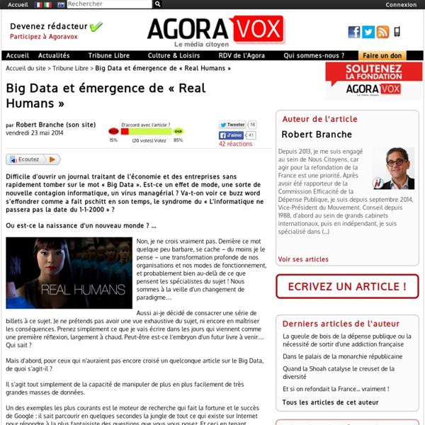 Big Data et émergence de « Real Humans »
