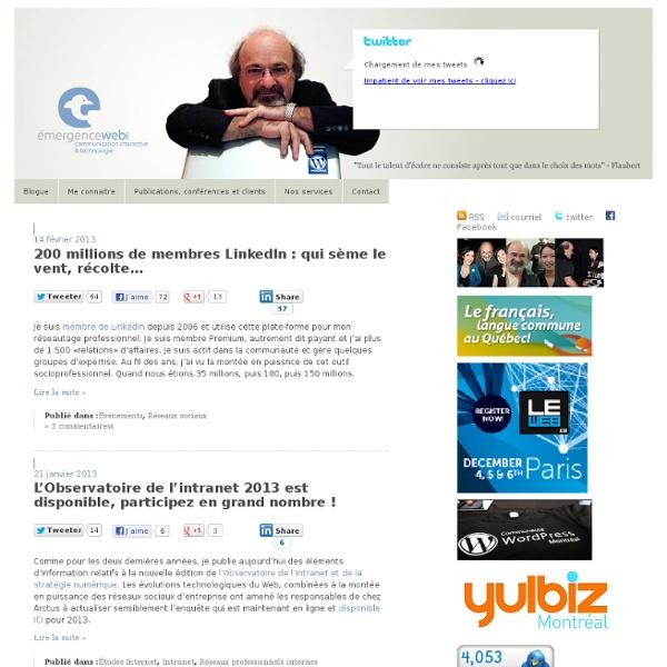 Émergenceweb : blogue