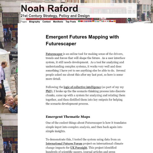 Emergent Futures Mapping with Futurescaper