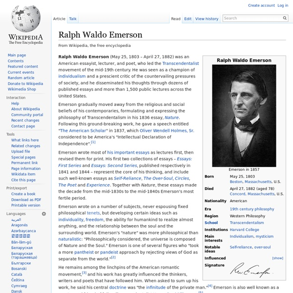 emerson history essay analysis The limited autograph centenary edition of the works of ralph waldo emerson.