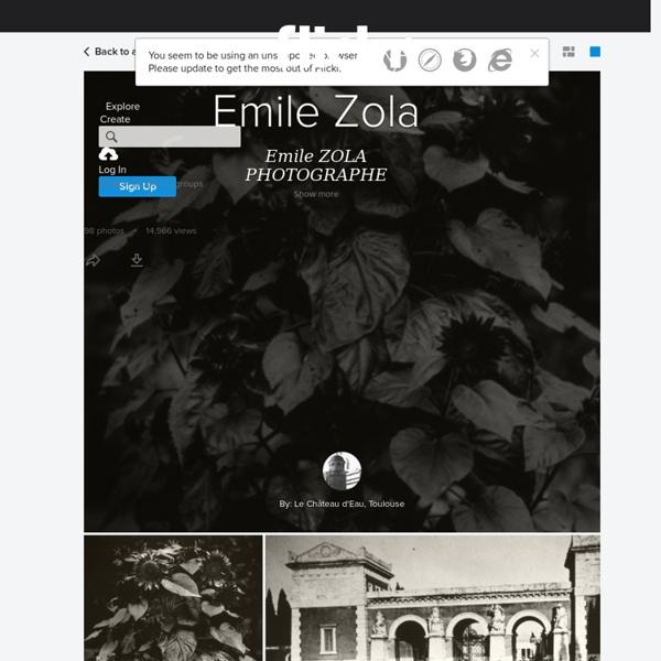 Emile Zola: photographe