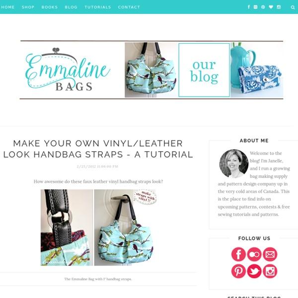 Make Your Own Vinyl/Leather Look Handbag Straps - A Tutorial