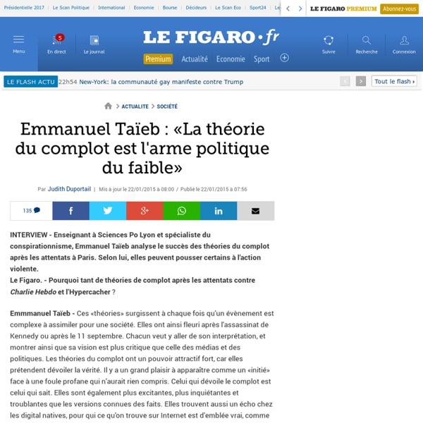 Interview d'Emmanuel Taïeb - Le Figaro