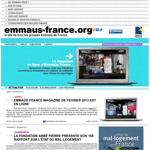 Le site de tous les groupes Emmaüs de France.
