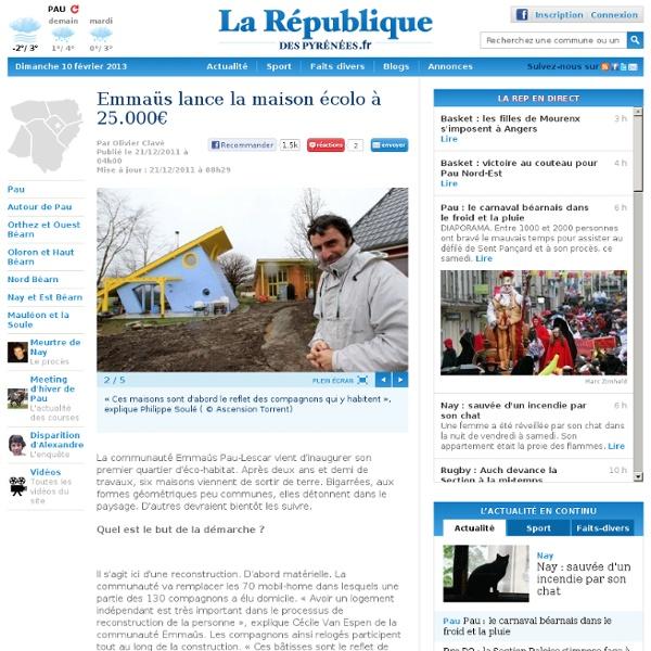 Emmaüs lance la maison écolo à 25.000€