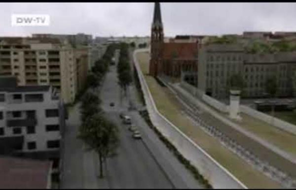 """""""Emmurés"""", la reconstitution 3D du mur de Berlin"""
