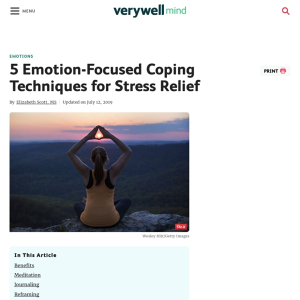 5 Emotion-Focused Coping Techniques for Stress Relief
