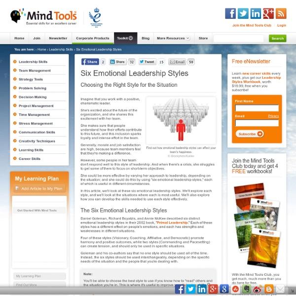 Six Emotional Leadership Styles - Leadership Training From MindTools