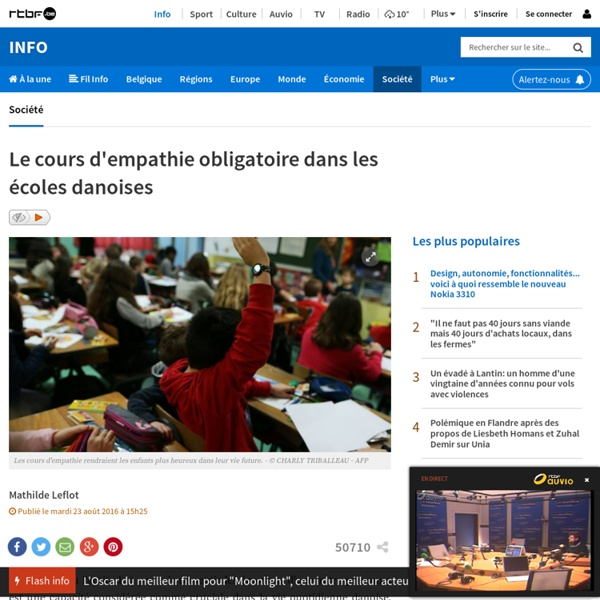 Le cours d'empathie obligatoire dans les écoles danoises