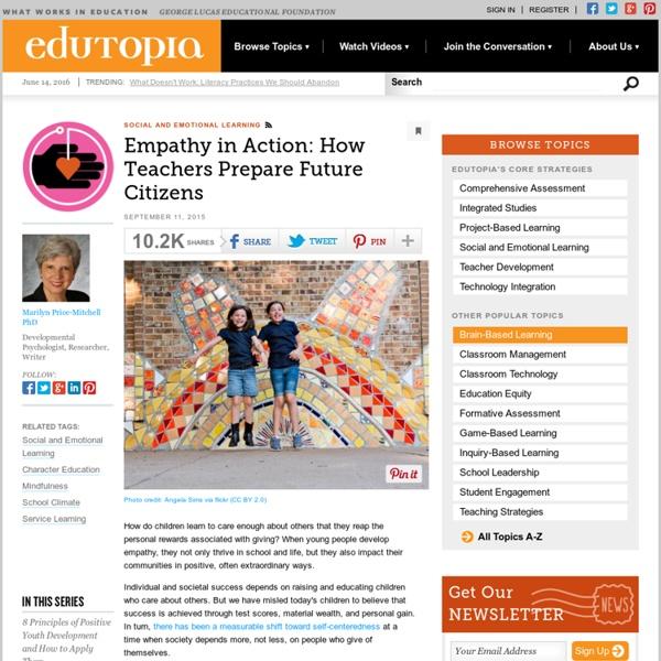 Empathy in Action: How Teachers Prepare Future Citizens
