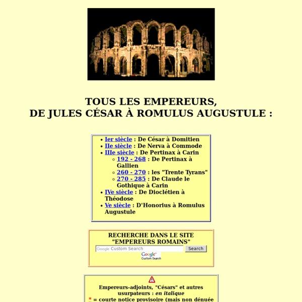 TOUS les Empereurs romains - ordre chronologique