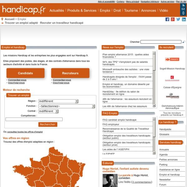 Emploi et handicap - Handicap.fr