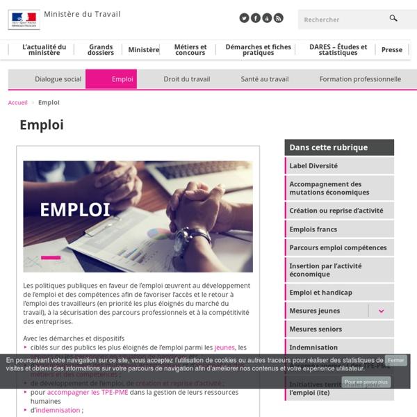 Portail des politiques publiques de l'emploi et de la formation professionnelle