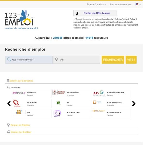 123-EMPLOI - Moteur de recherche d'offres d'emploi, recherche d'emploi France