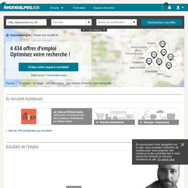 Emploi avec RhonealpesJob, offres d'emploi dans la région Rhône-Alpes - RhonealpesJob