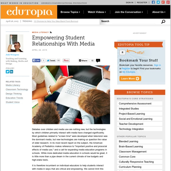 Empowering Student Relationships With Media