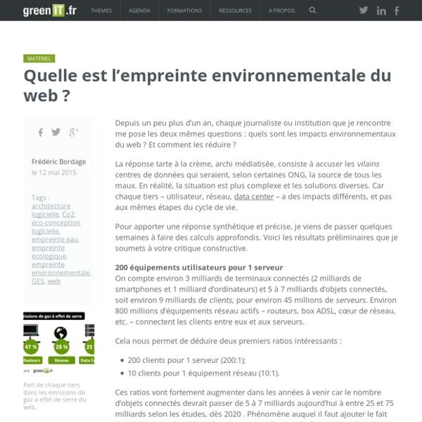 Quelle est l'empreinte environnementale du web ? - Green IT