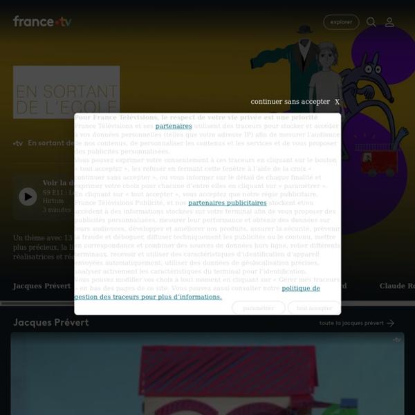 En sortant de l'école - Replay et vidéos en streaming - France tv